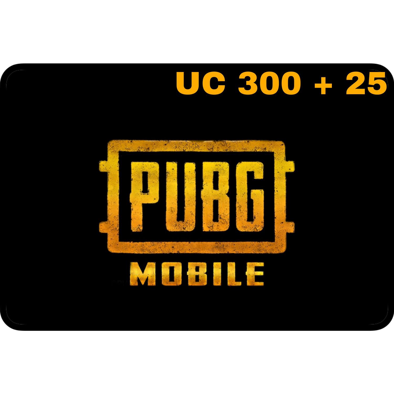 PUBG Mobile UC 300 + 25 (325 UC) Gift Code