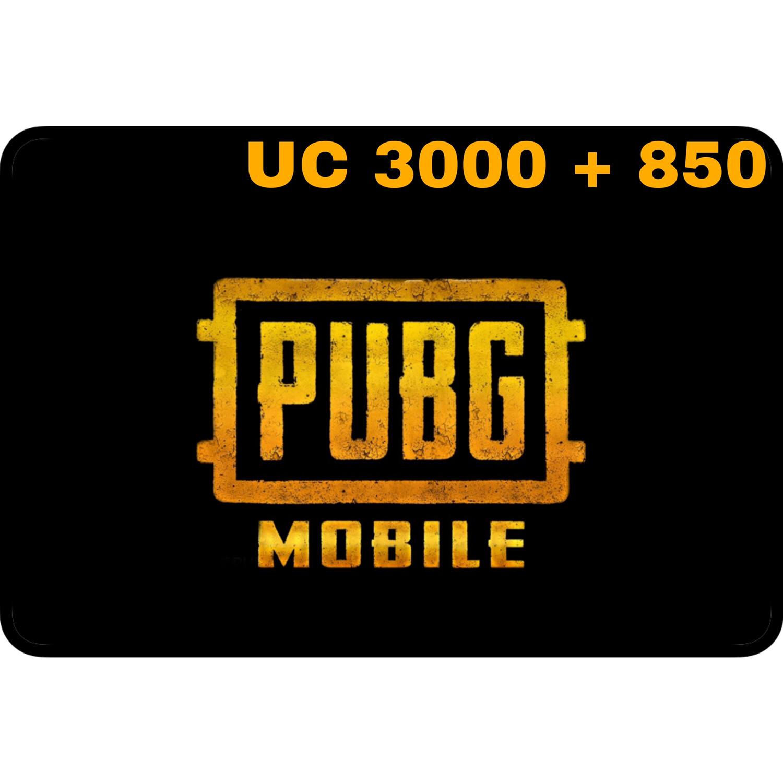 PUBG Mobile UC 3000 + 850 (3850 UC) Gift Code