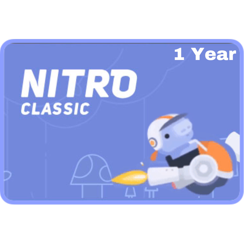 Discord Nitro Classic 1 Year Gift