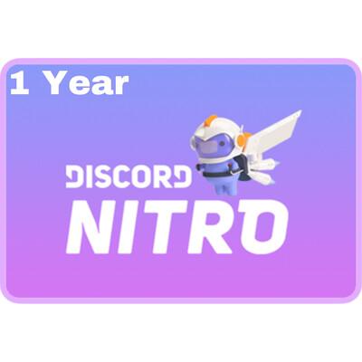 Discord Nitro 1 Year Gift