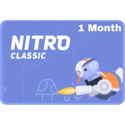 Discord Nitro Classic 1 Month Gift