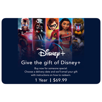Disney Plus US 1 Year Subscription Gift Card $69.99