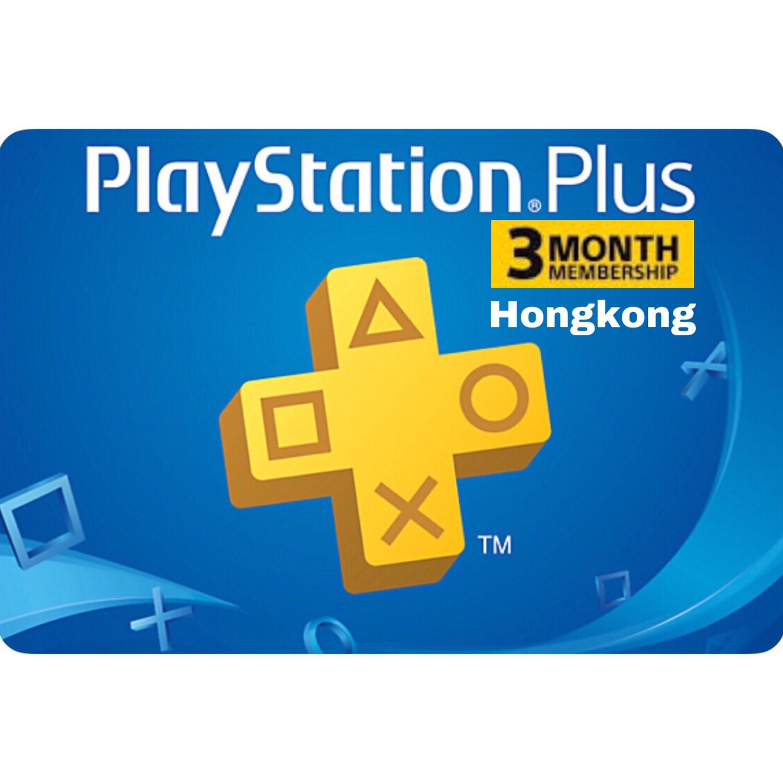 Playstation Plus (PSN Plus) Hongkong 3 Months