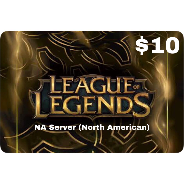 League of Legends $10 (NA Server) 1380 Riot Points