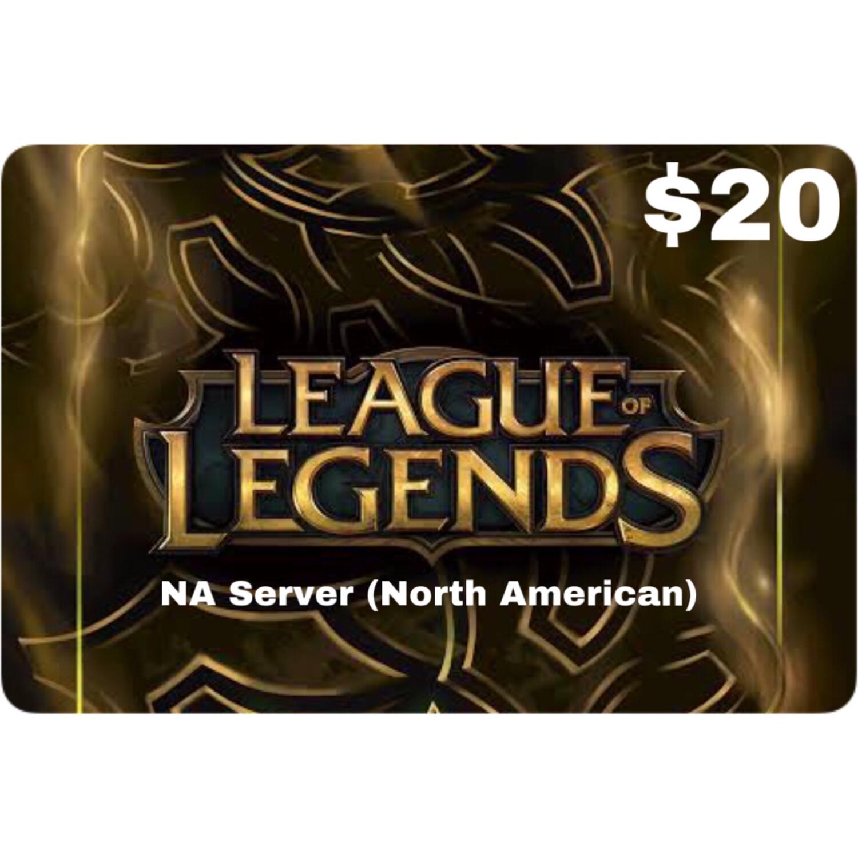 League of Legends $20 (NA Server) 2800 Riot Points
