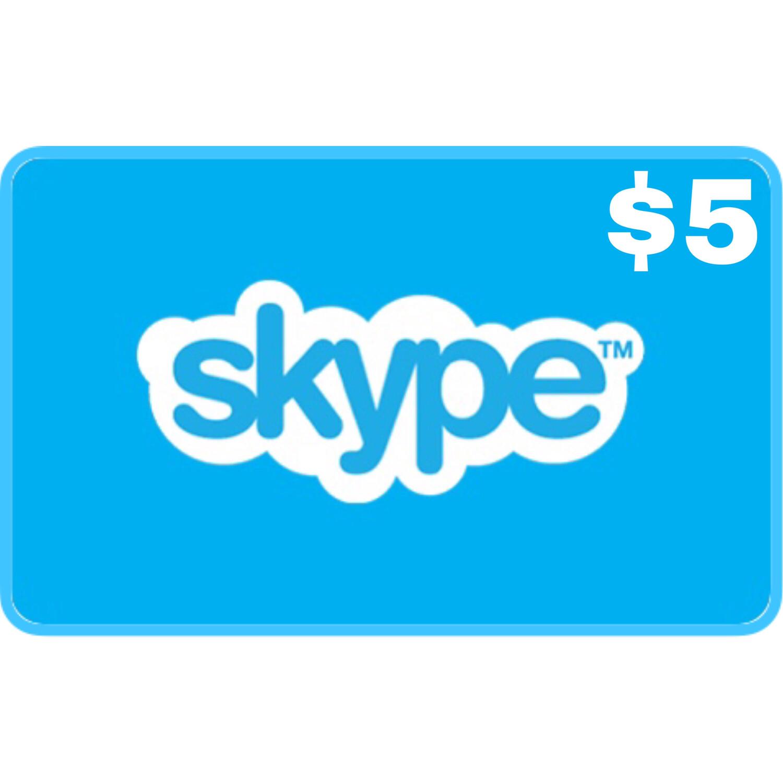 Skype Credit Gift $5