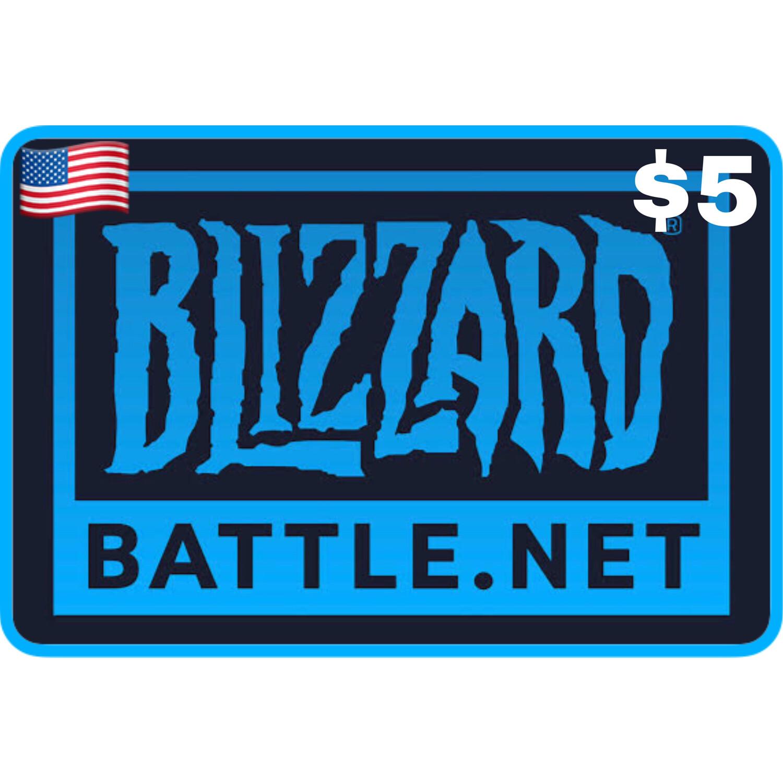 Battlenet Gift Card US $5 Blizzard Balance Code
