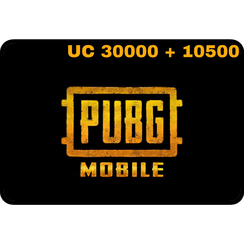 PUBG Mobile UC 30000 + 10500 (40500 UC) Gift Code