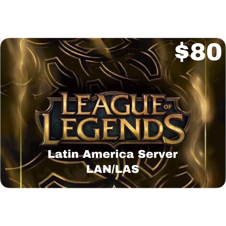League of Legends $80 Latin America LAS and LAN Servers