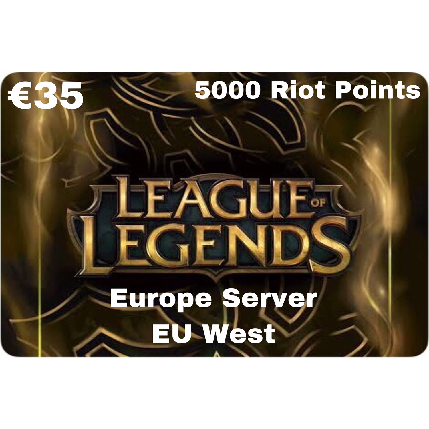 League of Legends €35 Europe Server 5000 Riot Points EU West