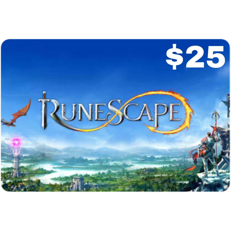 Runescape $25 Prepaid Card