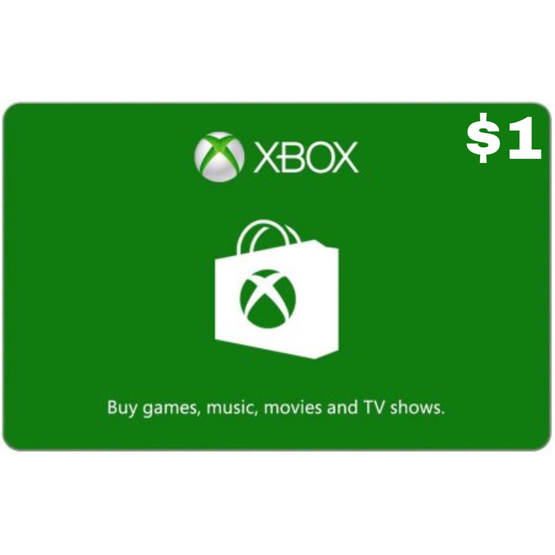 Xbox Gift Card USD $1