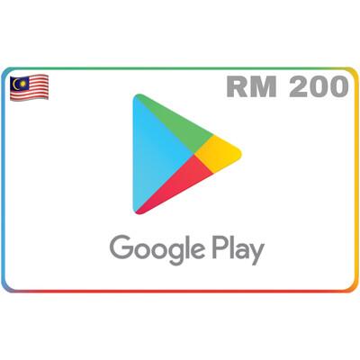 Google Play Malaysia RM 200