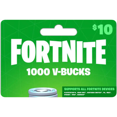 Fortnite 1000 VBucks $10 for All Devices Global