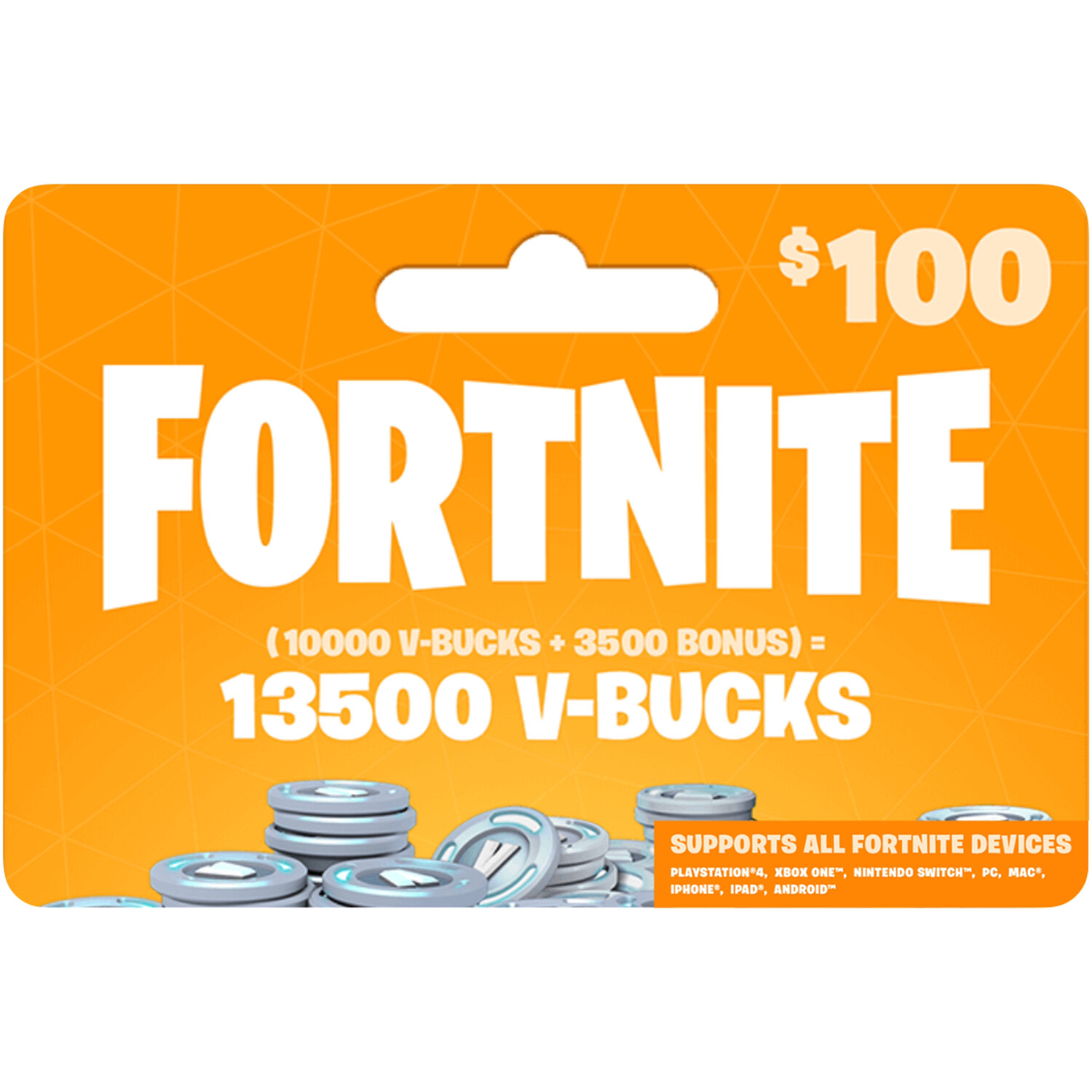 Fortnite 13500 VBucks $100 for All Devices Global