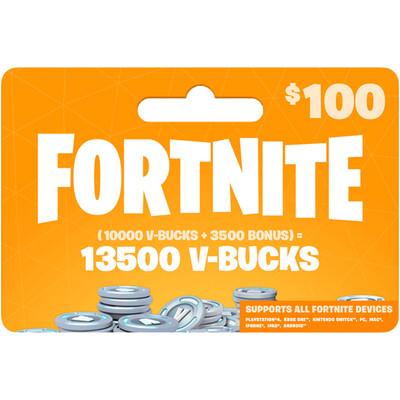 Fortnite 13500 VBucks $100 for All Devices Global