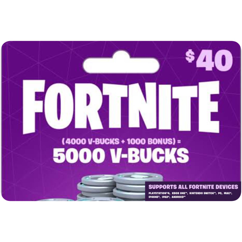 Fortnite 5000 VBucks $40 for All Devices Global
