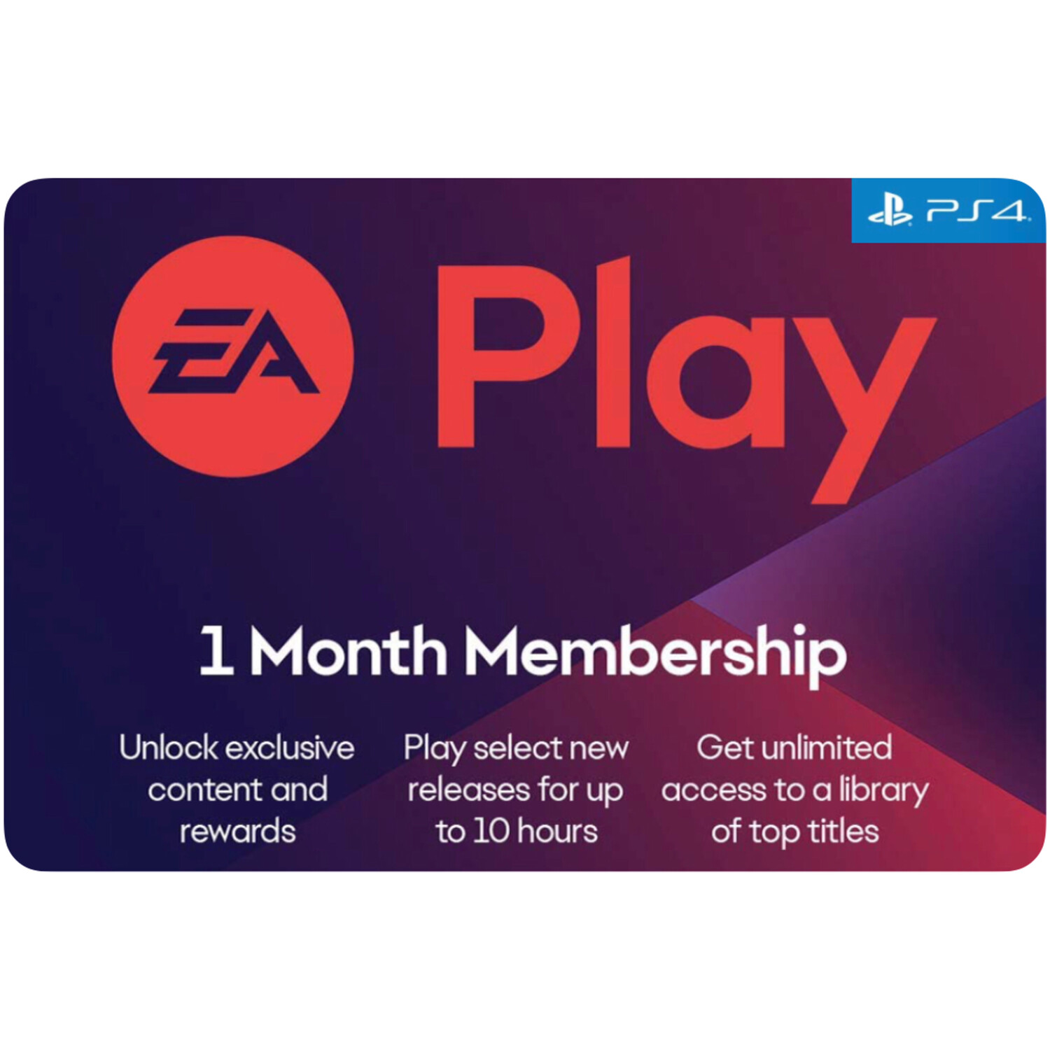 EA Play 1 Month Membership US for PS4 (EA Access)