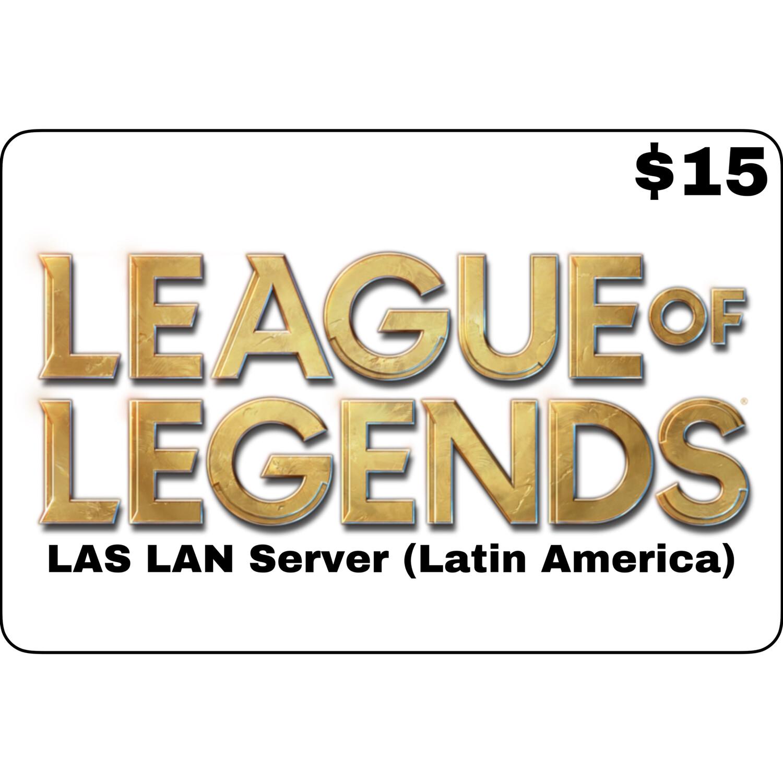League of Legends $15 Latin America LAS and LAN Servers