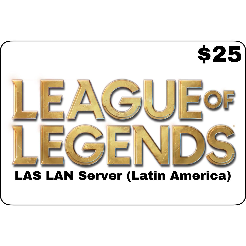 League of Legends $25 Latin America LAS and LAN Servers