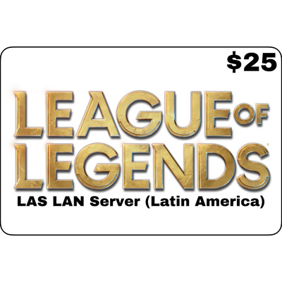 League of Legends $25 Latin America LAS and LAN Servers