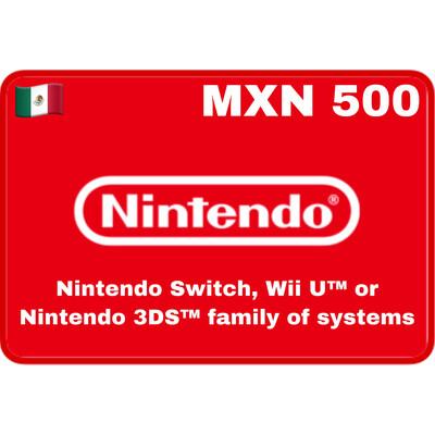 Nintendo eShop Mexico MXN 500