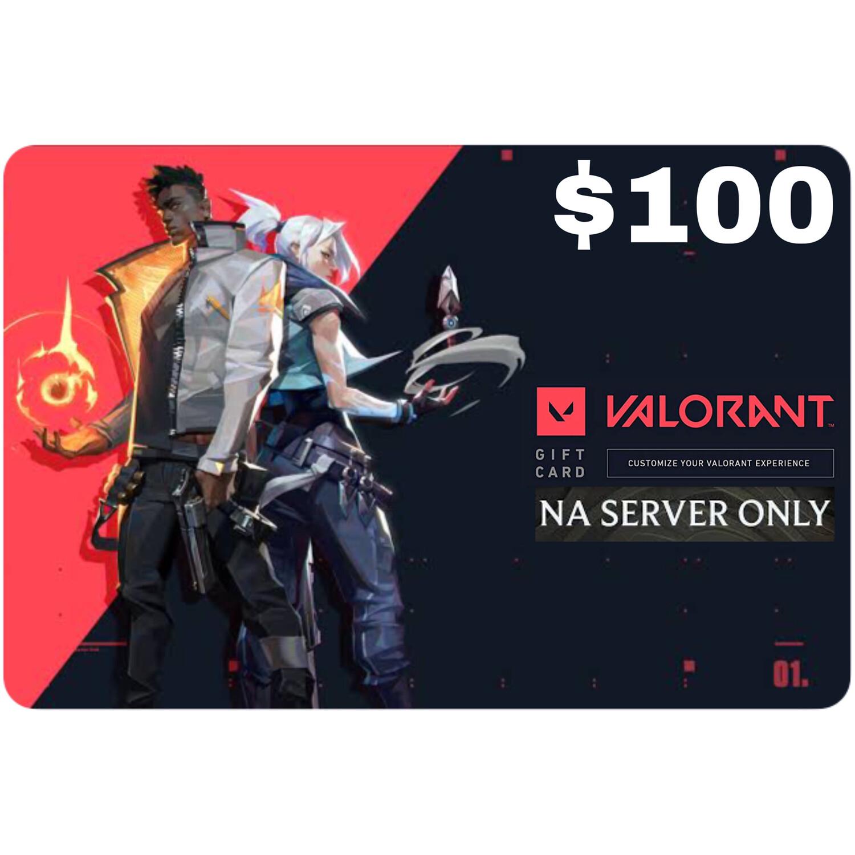 Valorant Gift Card $100 NA Server 11000 Valorant Point