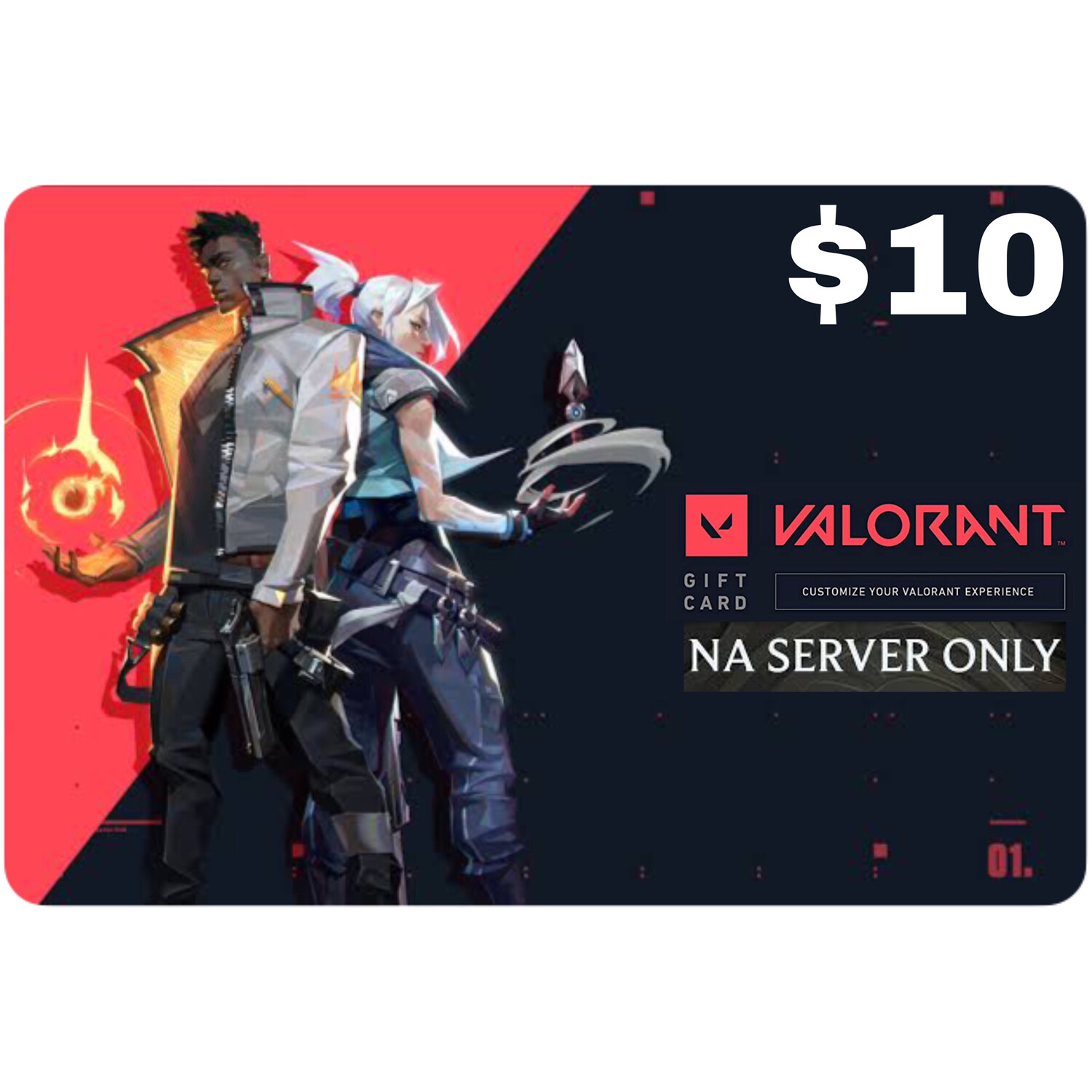 Valorant Gift Card $10 NA Server 1000 Valorant Point