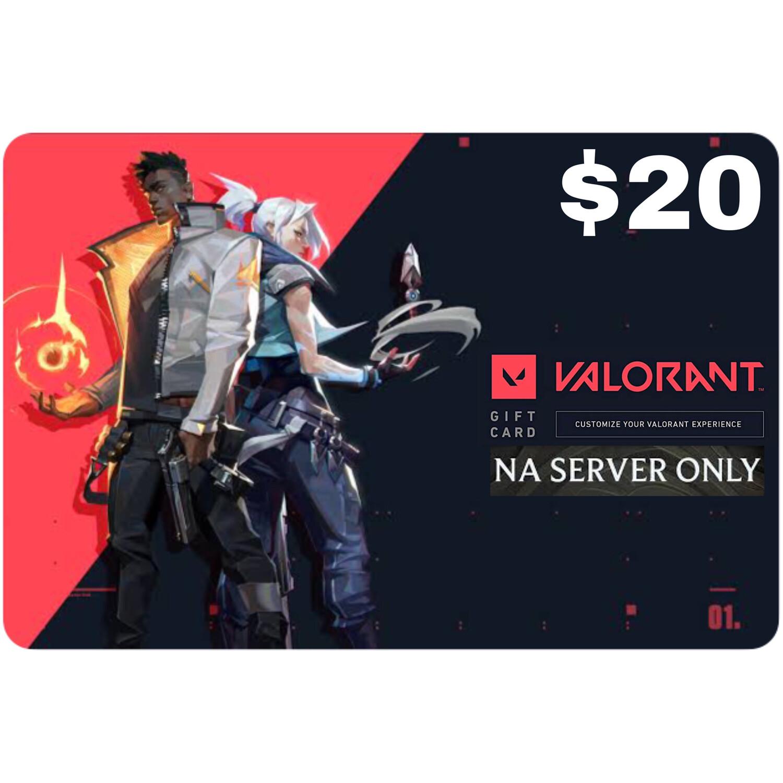 Valorant Gift Card $20 NA Server 2050 Valorant Point