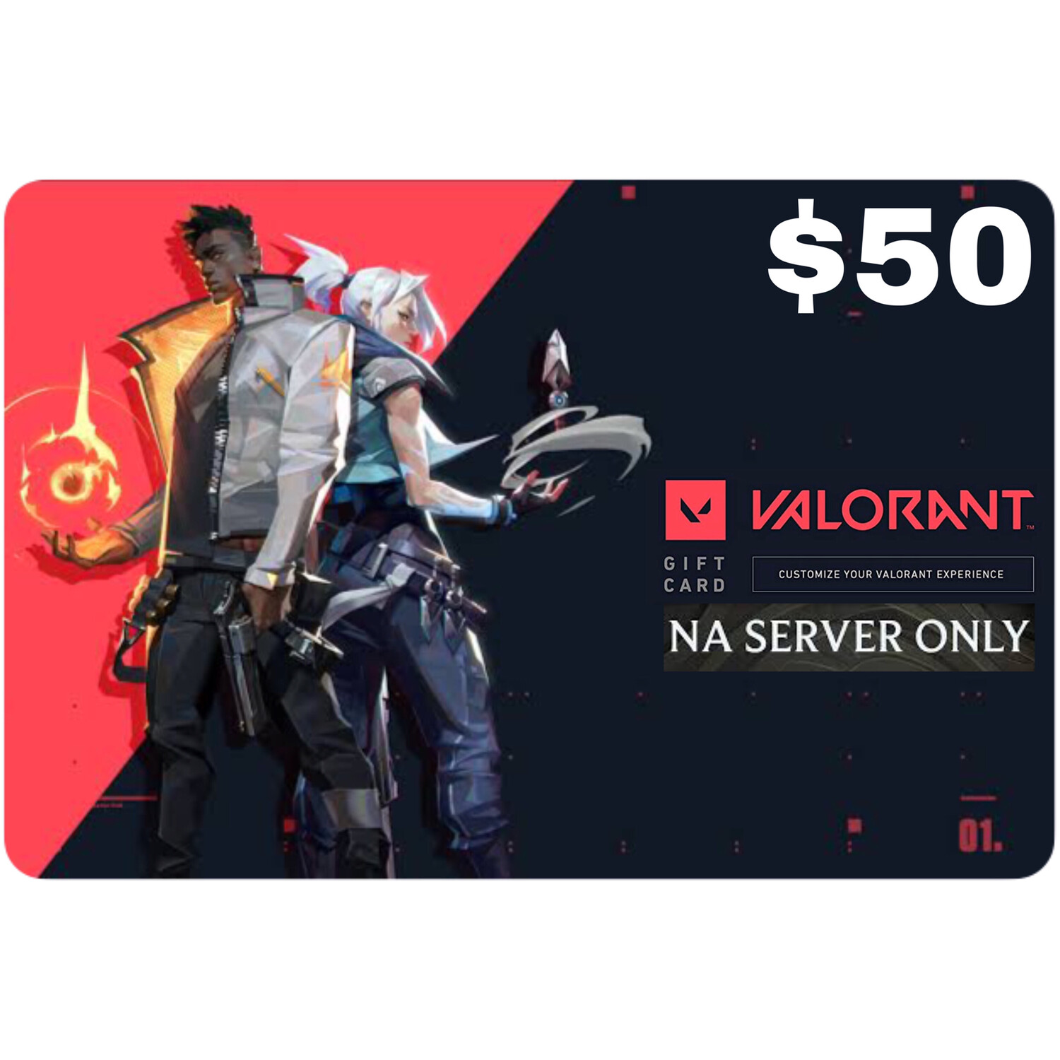Valorant Gift Card $50 NA Server 5350 Valorant Point