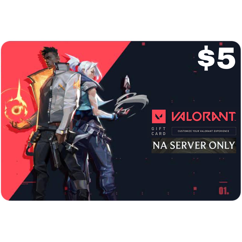 Valorant Gift Card $5 NA Server 475 Valorant Point