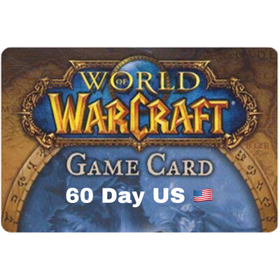 World of Warcraft 60 Day US Game Card