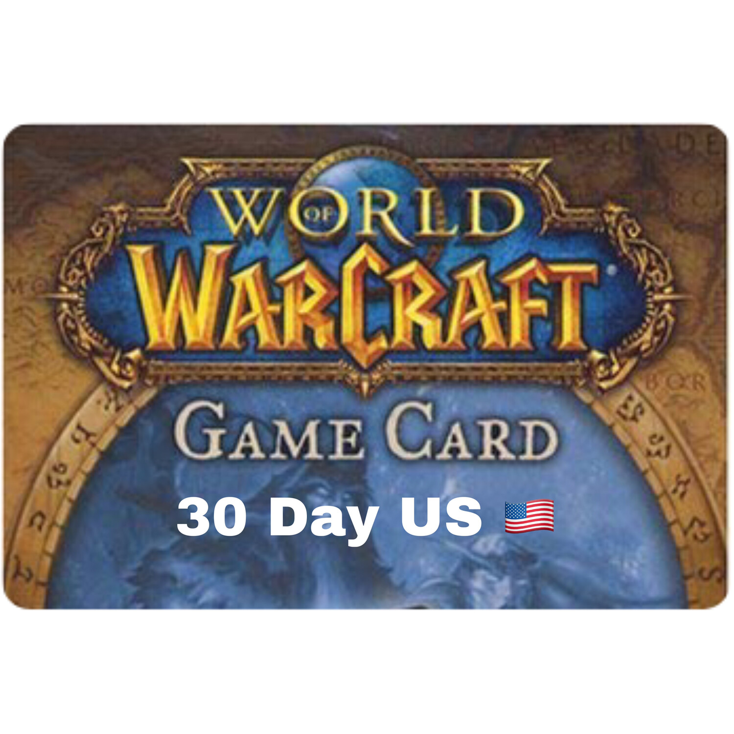 World of Warcraft 30 Day US Game Card
