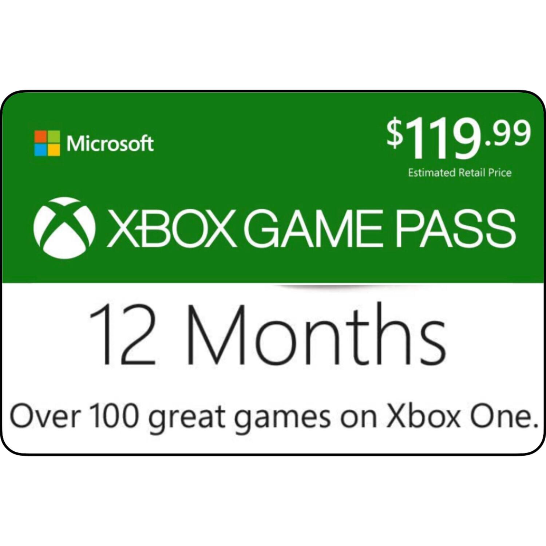 Xbox Game Pass 12 Months Membership