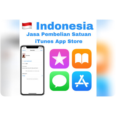 Jasa Beli Satuan Gift Apple iTunes App Store Indonesia