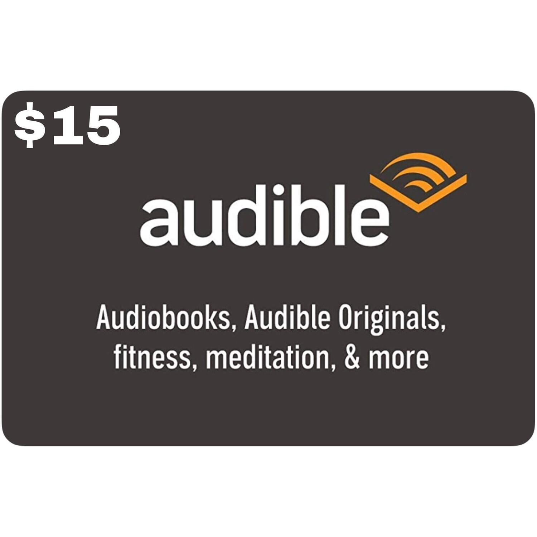 Audible Gift Card $15 (1 Month Membership)