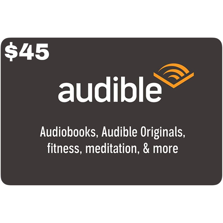Audible Gift Card $45 (3 Month Membership)