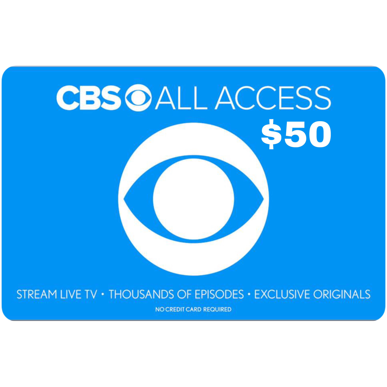 CBS All Access $50 Gift Card