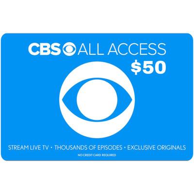 CBS All Access $50 Gift Card