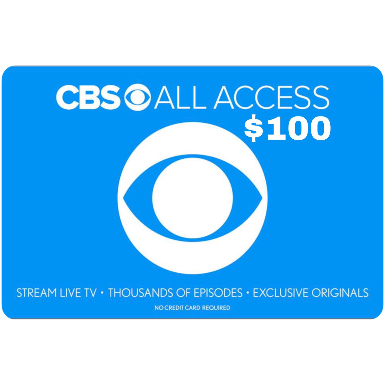 CBS All Access $100 Gift Card