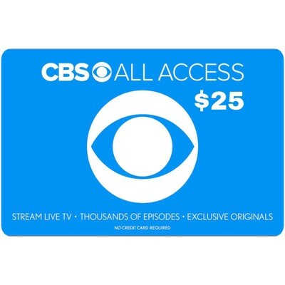 CBS All Access $25 Gift Card