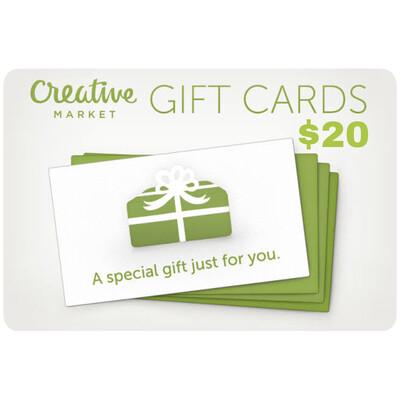 Creative Market Gift Card $20