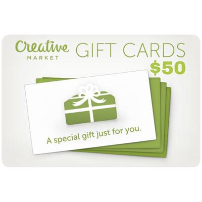 Creative Market Gift Card $50