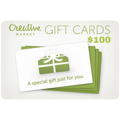 Creative Market Gift Card $100
