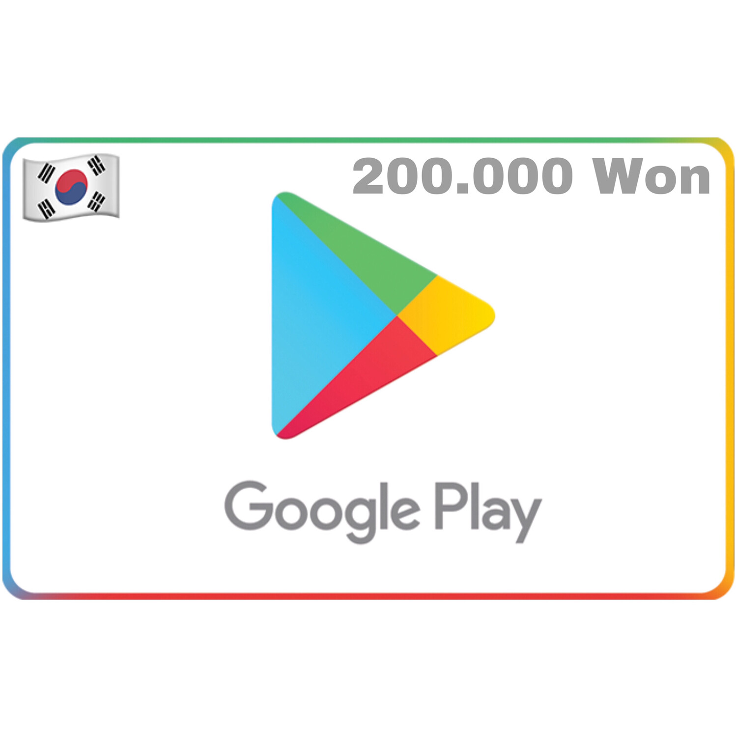 Google Play Korea 200,000 Won