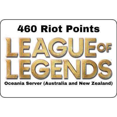 League of Legends Oceania Server 460 Riot Points AU