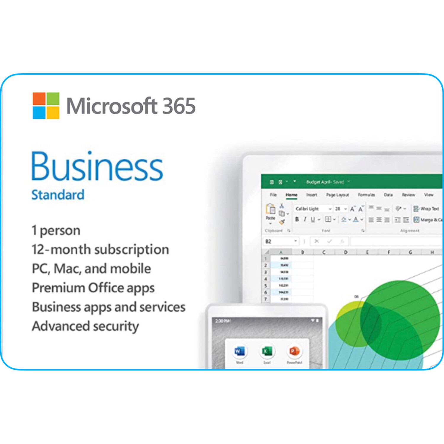 Microsoft 365 Business Standard Product Key 1 Year Subscription