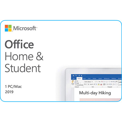 Microsoft Office Home & Student 2019 One Time Purchase for Mac and PC
