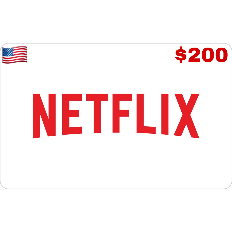 Netflix Gift Card US $200