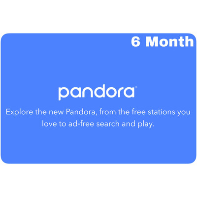 Pandora 6 Month Gift Subscription